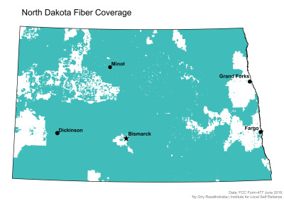 North Dakota Fiber Coverage