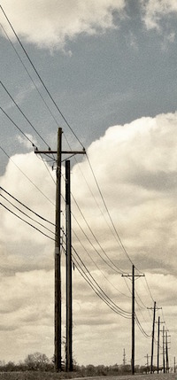 image of telephone poles