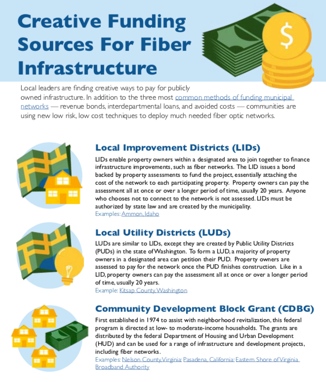 Creative Sources For Funding Fiber Infrastructure Fact Sheet
