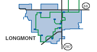 Small map of Longmont Fiber