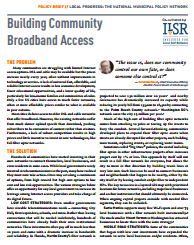 In Partnership With The Center For Popular Democracy We Have Created A New Policy Brief Building Community Broadband Access Offer Examples Of