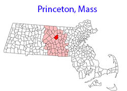 Princeton, Massachusetts Map