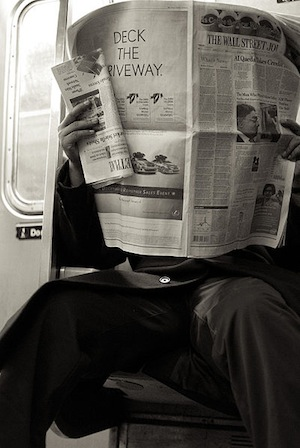 Reading Newspaper NYC
