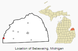 Sebewaing Map
