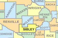Sibley County Map