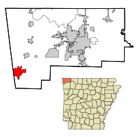 Map of Siloam Springs